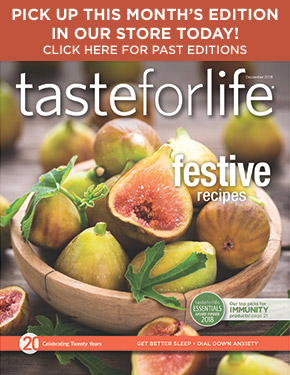 August 2015 Taste for Life cover - magazine archive